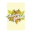 autumn sale template of poster applicable vector image vector image