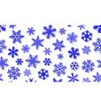 background of snowflakes with shadows vector image vector image