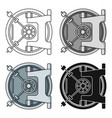 bank vault icon in cartoon style isolated on white vector image vector image