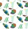 beach pattern for summer vector image vector image