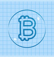 bitcoin price bubble vector image vector image