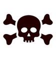 black pirate skull and crossbones medicaments vector image vector image