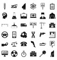 business computer icons set simple style vector image vector image