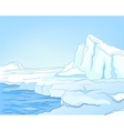 cartoon nature landscape arctic vector image vector image