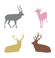 Christmas reindeer silhouettes vector image vector image