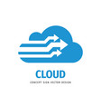 cloud hosting icon design computing technology vector image vector image