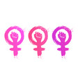 collection feminism symbol vector image