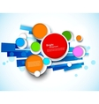 Colorful design with circles vector image vector image