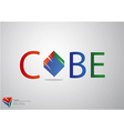 Cube logo background vector image vector image
