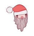 cute christmas santa claus head vector image vector image