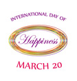 Day of Happiness card for web vector image vector image