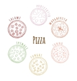 different kinds pizza vector image