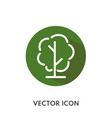 doodle tree icon vector image