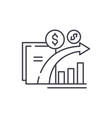 dynamics of financial growth line icon concept vector image vector image