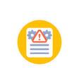 error report failed test icon vector image vector image