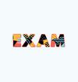 exam concept word art vector image vector image
