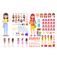 female constructor collection vector image vector image