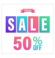 final sale banner vector image vector image