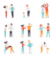 flat set of quarreling people women and vector image