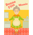 Grandmother Day France Greeting Card vector image vector image