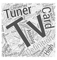 hdtv tuner card Word Cloud Concept vector image vector image