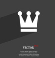 King Crown icon symbol Flat modern web design with vector image vector image