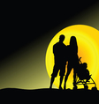 man and woman with baby vector image vector image