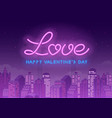 neon valentines day design vector image