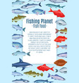 page design with fish vector image vector image