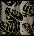 palm leaves ornate seamless pattern ornamental vector image