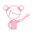 portrait of a cute little ballerina classical vector image vector image