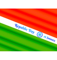 republic day of india vector image vector image