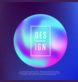 retro 80s 90s style modern holographic cover vector image