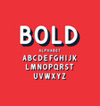 retro bold font and alphabet rounded letters vector image vector image