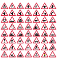 Road traffic warning signs vector image vector image