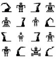 robot icon set vector image