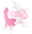 roses girl curves vector image