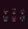 set energy types logo templates flat style vector image vector image