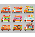 Set of food truck vector image vector image