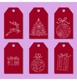 Set of simple christmas tags vector image vector image