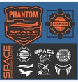 Set of space astronaut badges emblems labels and vector image vector image