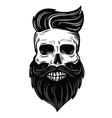 skull on white vector image vector image