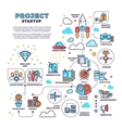 Startup business project product management vector image vector image