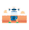 survey drone sprays chemicals smart farming flat vector image vector image