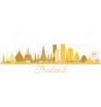thailand city skyline silhouette with golden vector image vector image