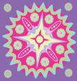 Violet star-Magic mandala print vector image vector image
