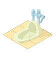 wc icon isometric style vector image vector image