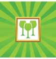Wine glass picture icon vector image