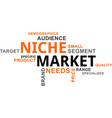 word cloud - niche market vector image vector image