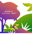 world animal day card wild jungle anteater vector image vector image